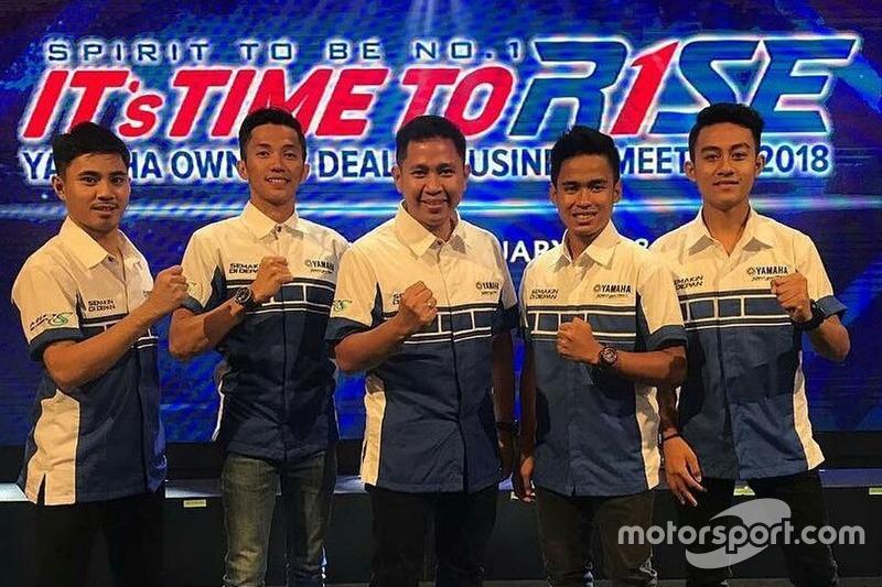 Richard Taroreh, Wahyu Aji Trilaksana, Wahyu Rusmayadi, Galang Hendra dan M Faerozi, Yamaha Racing Indonesia