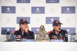 Carlos Sainz, Lucas Cruz, Peugeot Sport persconferentie