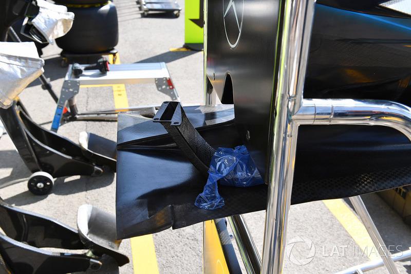 Detalle de la nariz del Mercedes-AMG F1 W09 EQ Power+