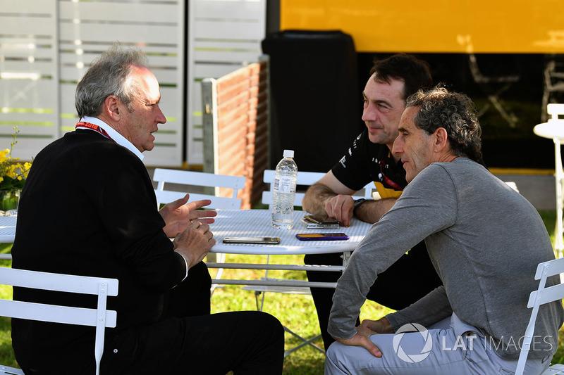 جيروم ستول، رئيس فريق رينو سبورت وآلان بروست، المستشار الخاص لفريق رينو