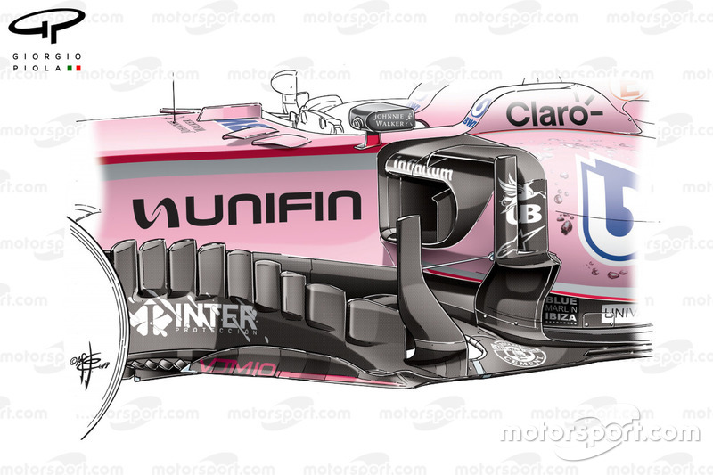 Force India VJM10: Windabweiser, GP Mexiko