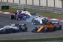 Sergey Sirotkin, Williams FW41 Mercedes, Stoffel Vandoorne, McLaren MCL33 Renault, Charles Leclerc, Sauber C37 Ferrari, Pierre Gasly, Toro Rosso STR13 Honda, Marcus Ericsson, Sauber C37 Ferrari