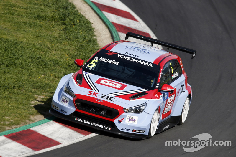 Norbert Michelisz Brc Racing Team Hyundai I30 N Tcr At Barcelona