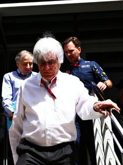 Formel-1-Boss Bernie Ecclestone, FIA-Präsident Jean Todt und Red-Bull-Teamchef Christian Horner