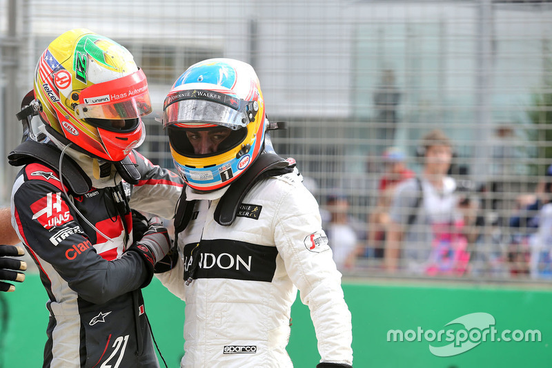 Die erste Begegnung Gutierrez/Alonso nach dem Crash