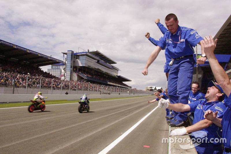 Ganador de la carrera Sete Gibernau, Telefónica Movistar Honda