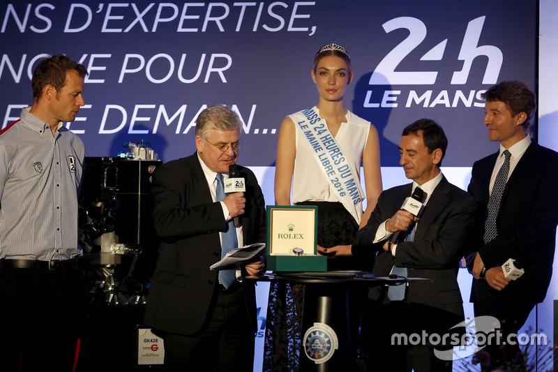 Conferencia de prensa de la ACO:  Alex Wurz; Grand Marshal, Jacques Nioclet; Pierre Fillon, Presidente de la ACO