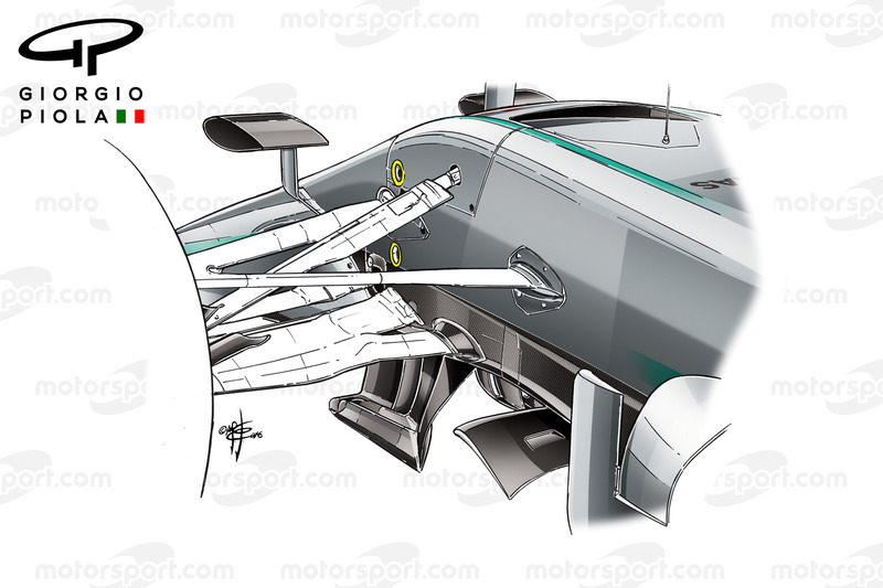 Mercedes W07 turning vanes, Canadian GP