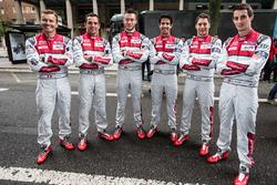 Марсель Фесслер, Андре Лоттерер и Бенуа Трелюйе, #7 Audi Sport Team Joest Audi R18 и Лукас ди Грасси