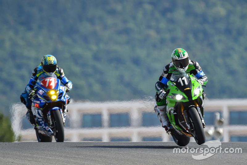 #11 SRC Kawasaki: Gregory Leblanc, Matthieu Lagrive, Fabien Foret