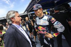 Carlos Sainz con Sébastien Ogier, M-Sport