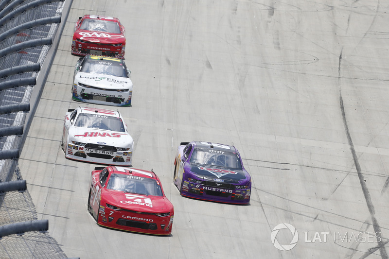 Justin Allgaier, JR Motorsports, Chevrolet; Darrell Wallace Jr., Roush Fenway Racing, Ford