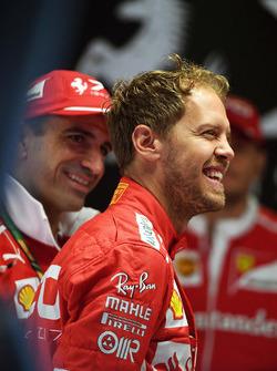 Marc Gene, Ferrari and Sebastian Vettel, Ferrari