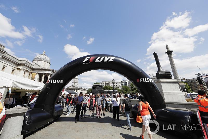 F1 en vivo Londres se adueña de Trafalgar Square