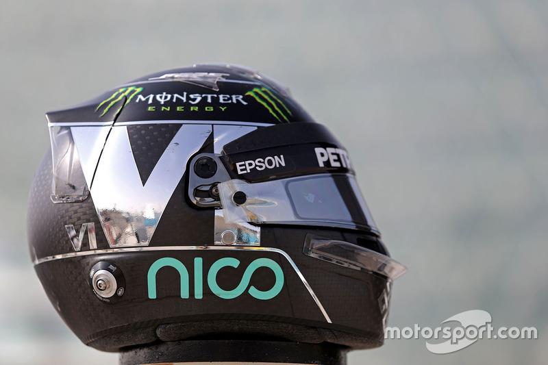 Helmet of Nico Rosberg, Mercedes AMG F1