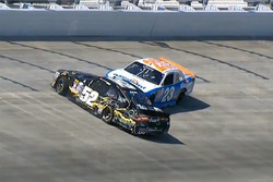 Joey Gase, Jimmy Means Racing Chevrolet, Spencer Gallagher, GMS Racing Chevrolet, crash