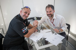 Frédéric Corminboeuf, Team Manager CGBM Evolution and Jens Hainbach, KTM Motorsport Vice President of Road Racing & WP