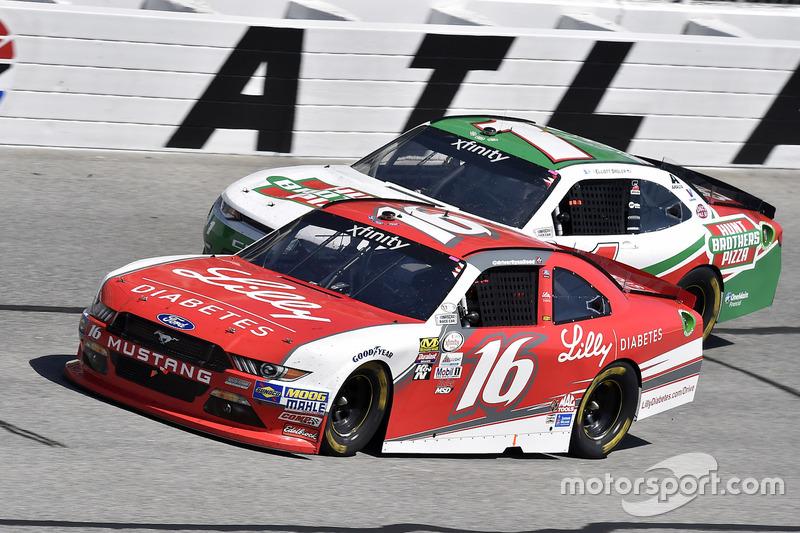 Ryan Reed, Roush Fenway Racing, Ford; Elliott Sadler, JR Motorsports, Chevrolet