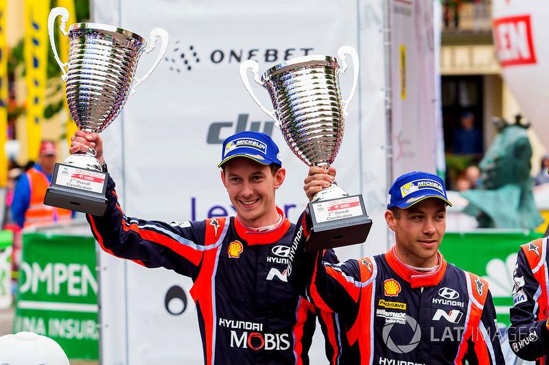 Podio: secondo posto Hayden Paddon, Sebastian Marshall, Hyundai Motorsport