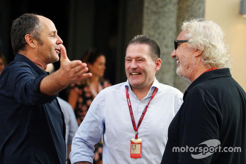 Gerhard Berger, Jos Verstappen y Flavio Briatore