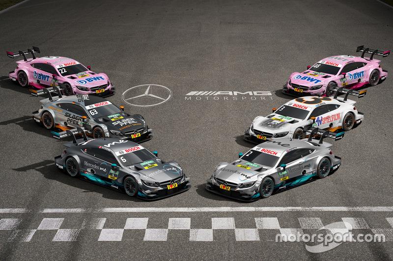 All 2017 Mercedes-Benz DTM cars