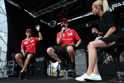 Sebastian Vettel, Ferrari and Kimi Raikkonen, Ferrari on stage