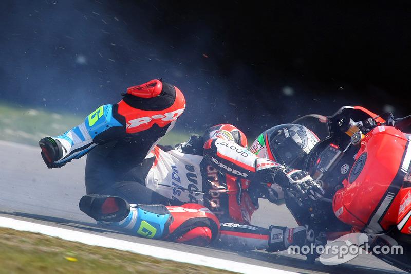 9. Marco Melandri, Ducati Team crash