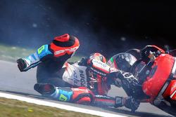 Sturz: Marco Melandri, Ducati Team
