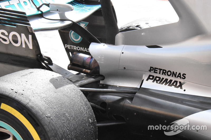 Mercedes AMG F1 W08 rear detail