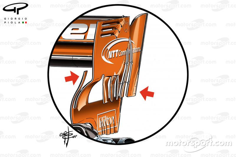 McLaren MCL32: ala posteriore del GP del Bahrain