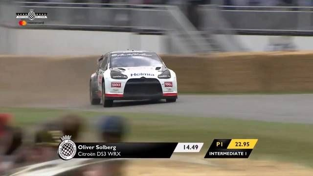 Goodwood FOS: Oliver Solberg is a madman