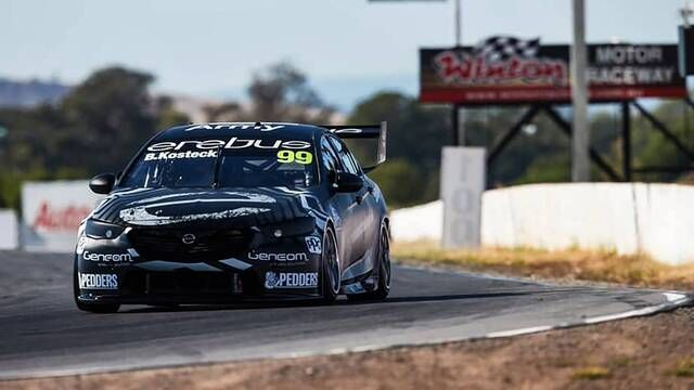 Brodie Kostecki and Will Brown complete first laps for Erebus Motorsport