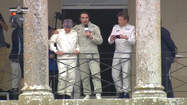 Goodwood FOS: Sir Jackie Stewart moment on the balcony