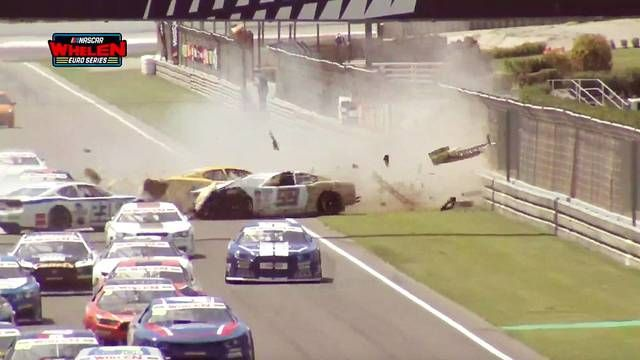 NASCAR Whelen Euro Series Valencia: Huge start crash