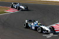 Montoya and Ralf race harder
