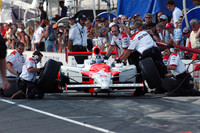 IRL: Hornish's team wins Indy pit stop competition