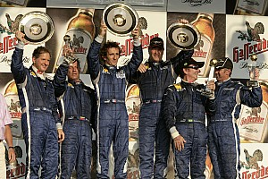 Charity Prost wins Legends charity race