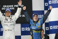Montoya wins Brazilian GP, Alonso is world champion