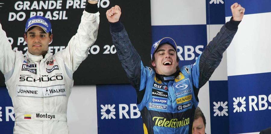 Montoya wins Brazilian GP, Alonso is world champion