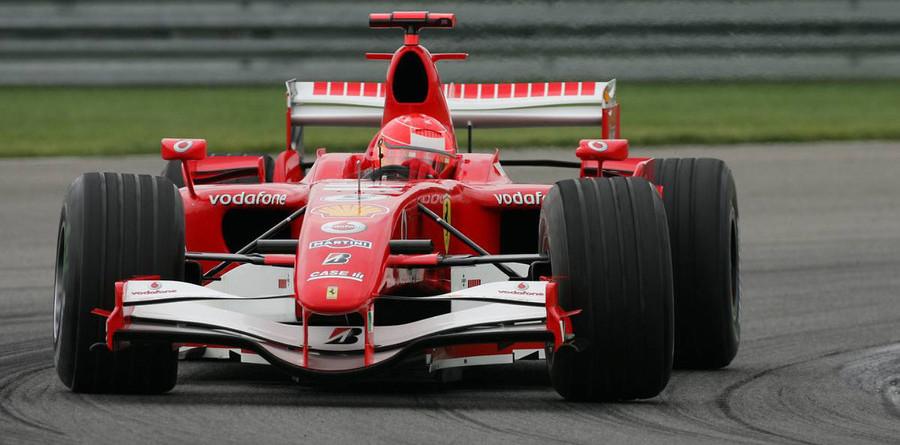 Schumacher leads Ferrari front row for US GP