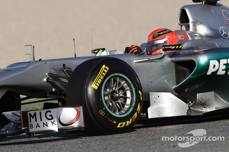 Pirelli says tyres not designed for Schumacher