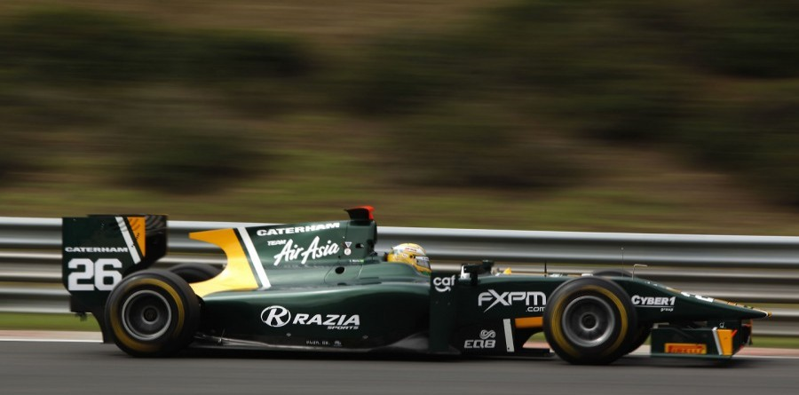 Team AirAsia Celebrates Razia GP2 Pole In Budapest