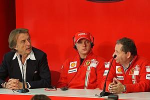 Formula 1 Montezemolo happy to hear Raikkonen rumours
