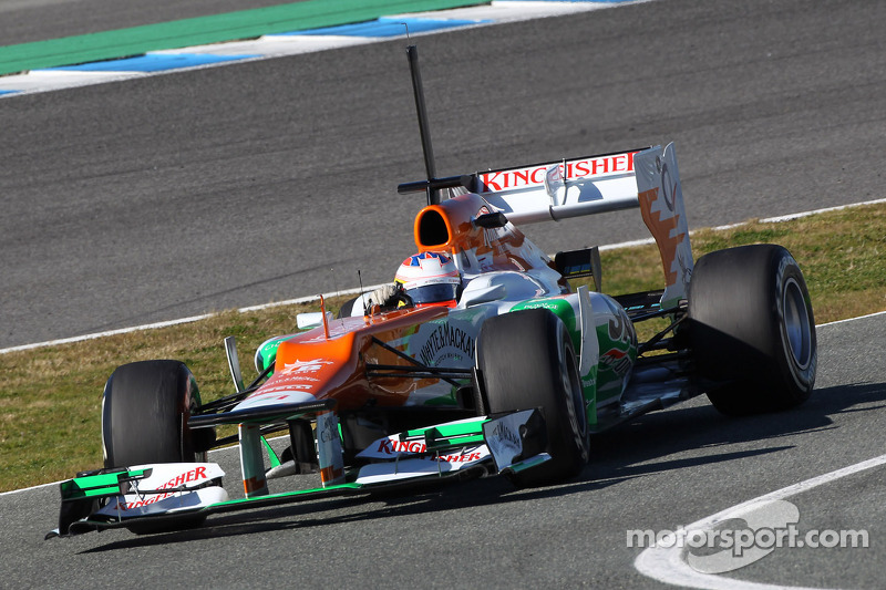 Force India Jerez test day 1 report