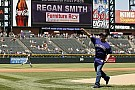 Smith switches gears;throws out first pitch at Rockies game