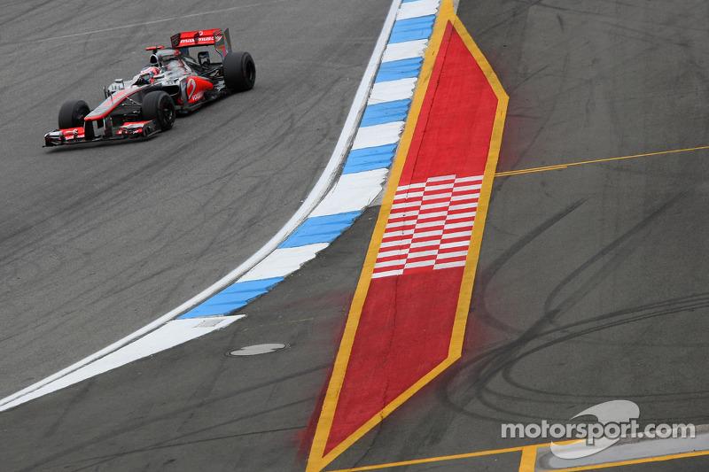Button leads McLaren 1-2 at Hockenheim Friday practice