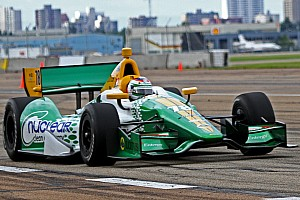IndyCar Qualifying report Rain comes too late in Edmonton to help Lotus HVM in qualifying
