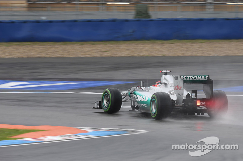 Schumacher will start from the second row for the German GP