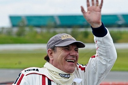 Brian Johnson of AC/DC Gung-Ho racing driver