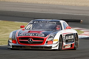 Blancpain Sprint Qualifying report Vita4One BMW takes pole in battle of the big guns at Slovakia Ring